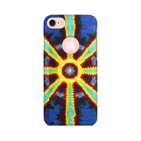 Tie & Die Pattern Apple iPhone 7 with Round Cut Phone Cover