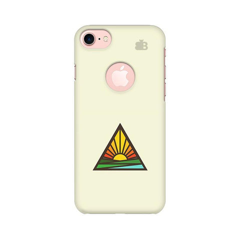 Triangular Sun Apple iPhone 7 with Round Cut Phone Cover