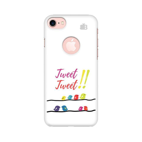 Tweet Tweet Apple iPhone 7 with Round Cut Phone Cover