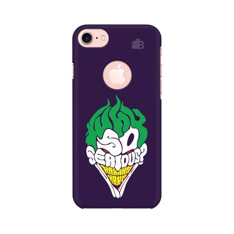 Why So Serious Apple iPhone 7 with Round Cut Phone Cover