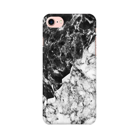 Black White Marble Apple iPhone 8 Phone Cover