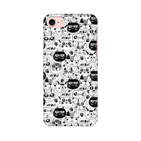 Cute Cats Pattern Apple iPhone 8 Phone Cover