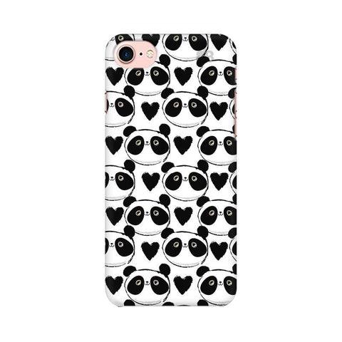 Happy Panda Pattern Apple iPhone 8 Phone Cover
