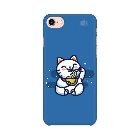 KItty eating Noodles Apple iPhone 8 Phone Cover