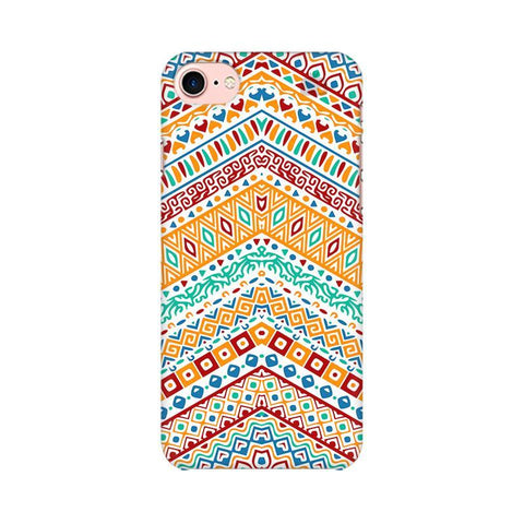 Wavy Ethnic Art Apple iPhone 8 Phone Cover
