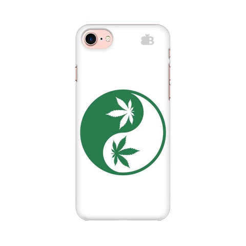 Weed Yin Yang Apple iPhone 8 Phone Cover