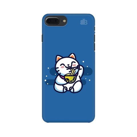 KItty eating Noodles Apple iPhone 8 Plus Phone Cover