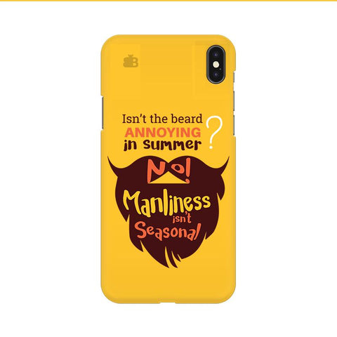 Beard Brown Apple iPhone 9 Cover