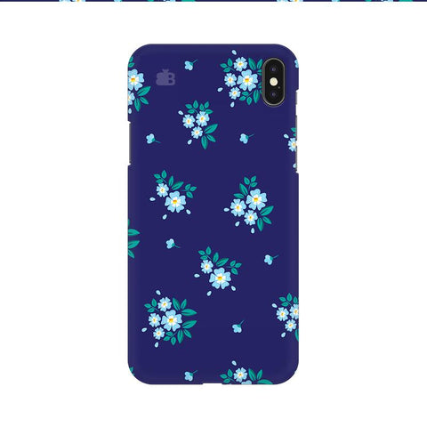 Blue Floral Pattern Apple iPhone 9 Cover
