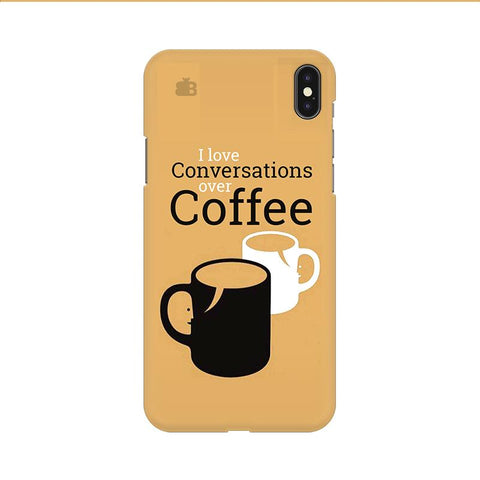 Convos over Coffee Apple iPhone 9 Cover