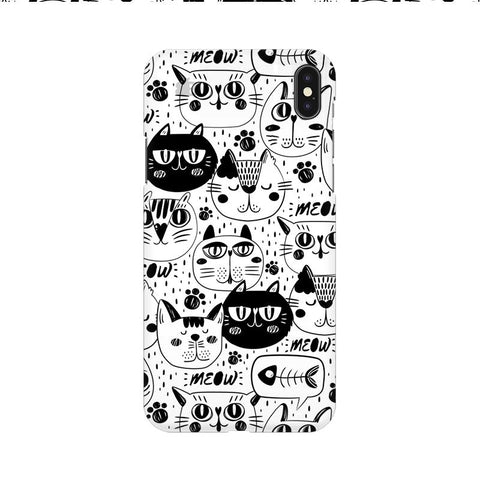 Cute Cats Pattern Apple iPhone 9 Cover