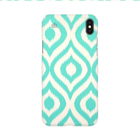 Cyan Ikat Apple iPhone 9 Cover