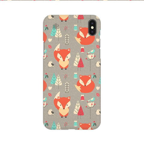 Foxy Pattern Apple iPhone 9 Cover