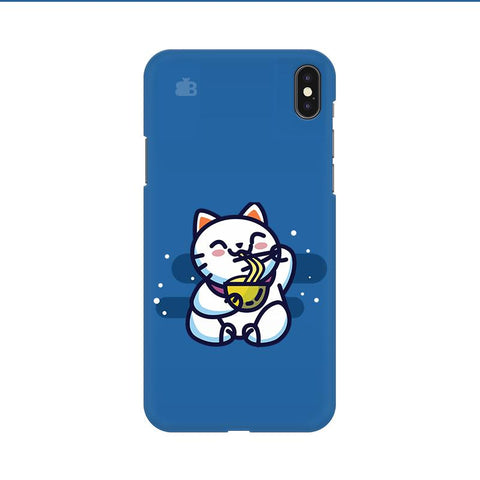 KItty eating Noodles Apple iPhone 9 Cover