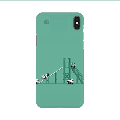 Pandas Playing Apple iPhone 9 Cover