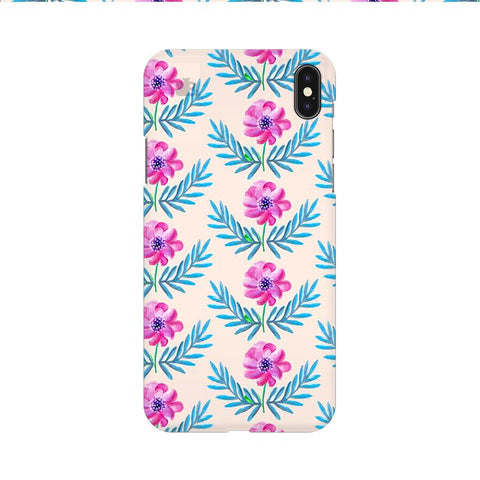 Pink Watercolor Pattern Apple iPhone 9 Cover