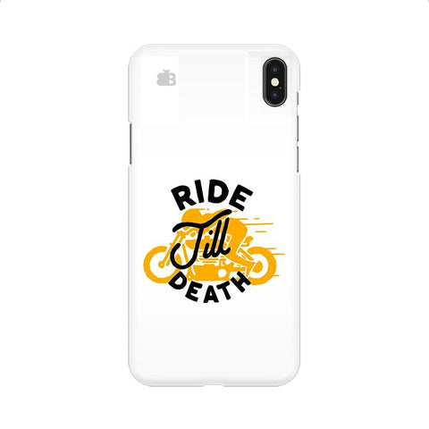 Ride Till Death Apple iPhone 9 Cover
