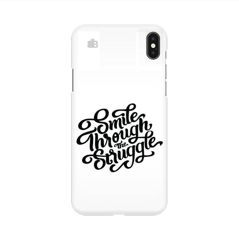 Smile through the Struggle Apple iPhone 9 Cover