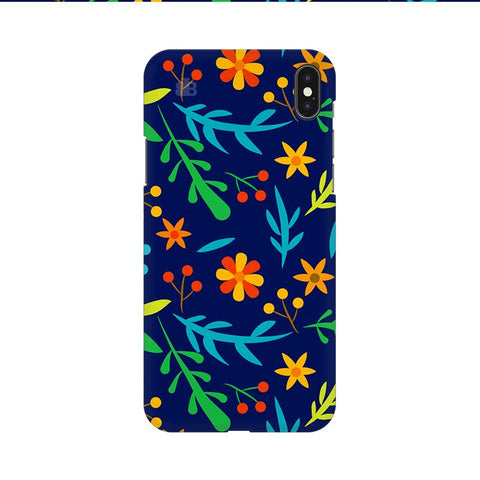 Vibrant Floral Pattern Apple iPhone 9 Cover