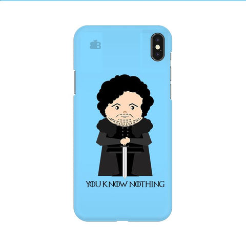 You Know Nothing Apple iPhone 9 Cover
