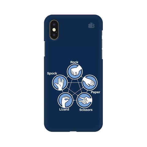 Rock Paper Scissors Apple iPhone 9 Plus Cover