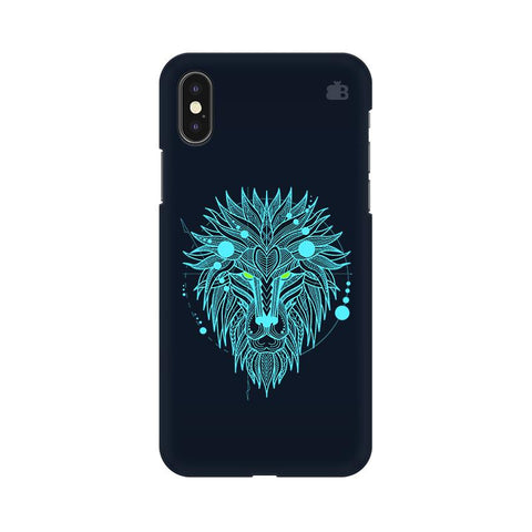 Abstract Art Lion Apple iPhone XS Cover