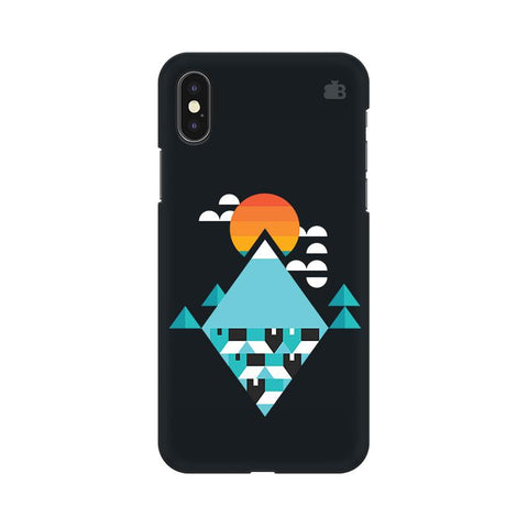 Abstract Mountains Apple iPhone XS Cover