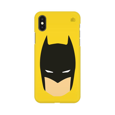 Angry Masked Superhero Apple iPhone XS Cover