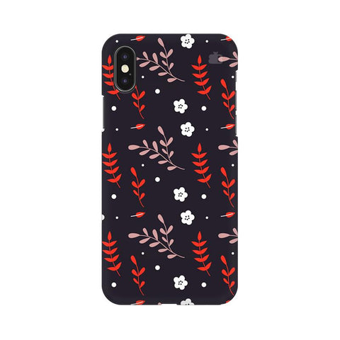 Autumn Floral Pattern Apple iPhone XS Cover