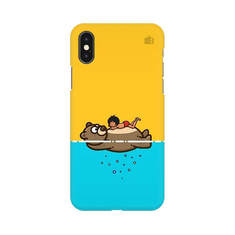 Baloo and Mowgli Apple iPhone XS Cover