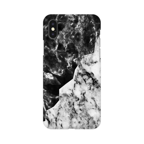 Black White Marble Apple iPhone XS Cover