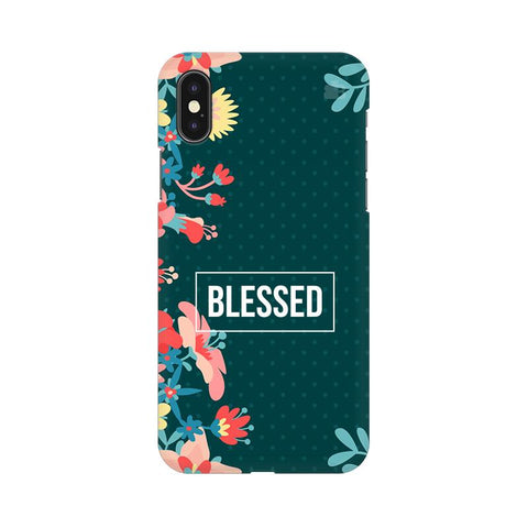 Blessed Floral Apple iPhone XS Cover