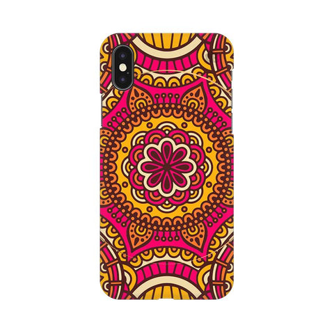 Colorful Ethnic Art Apple iPhone XS Cover