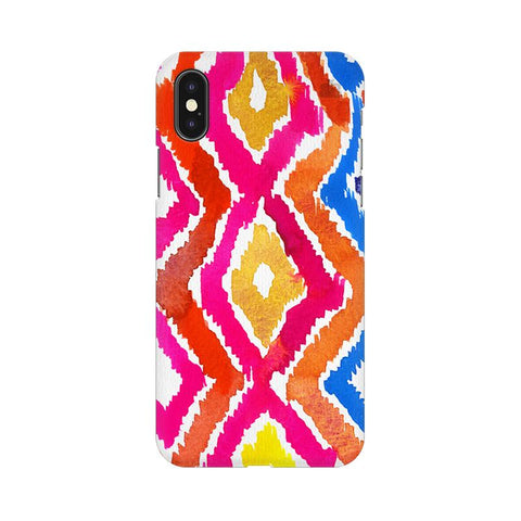 Colorful Ikat Apple iPhone XS Cover