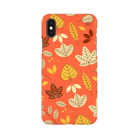 Cute Leaves Pattern Apple iPhone XS Cover