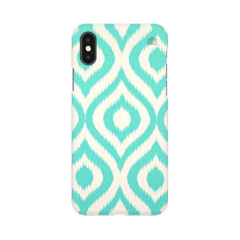 Cyan Ikat Apple iPhone XS Cover