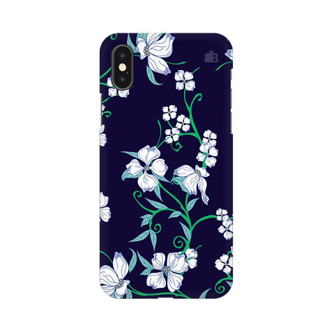 Dogwood Floral Pattern Apple iPhone XS Cover