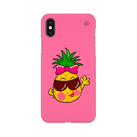 Funky Pineapple Apple iPhone XS Cover