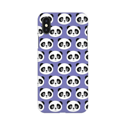 Panda Pattern Apple iPhone XS Cover