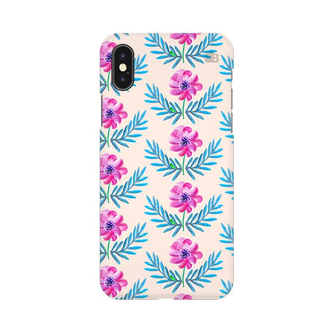Pink Watercolor Pattern Apple iPhone XS Cover