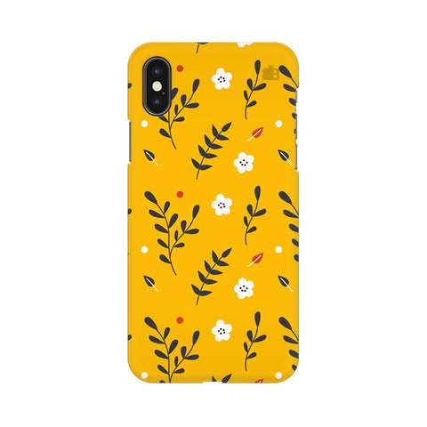 Summer Floral Pattern Apple iPhone XS Cover