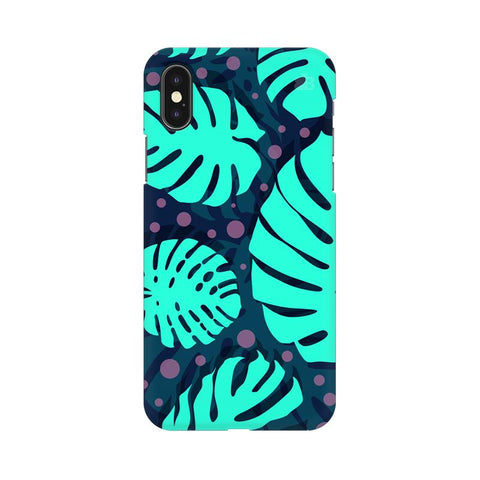 Tropical Leaves Pattern Apple iPhone XS Cover