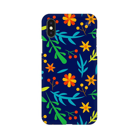 Vibrant Floral Pattern Apple iPhone XS Cover