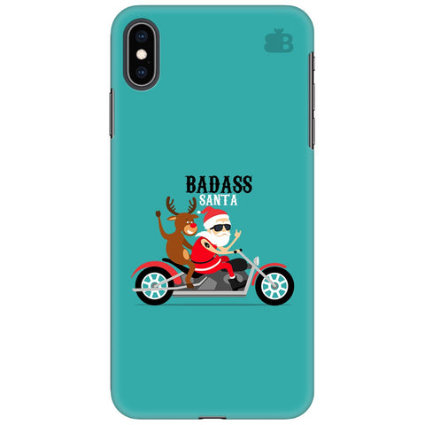 Badass Santa Apple iPhone XS Max Cover