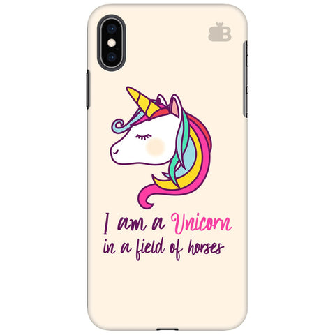 Unicorn in Horses Apple iPhone XS Max Cover