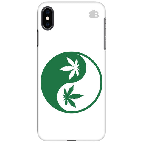 Weed Yin Yang Apple iPhone XS Max Cover
