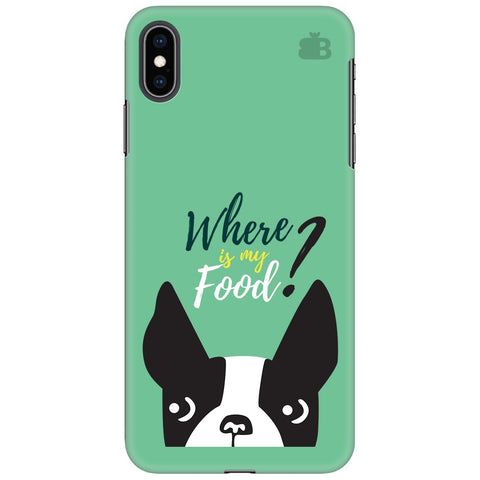 Where is my Food Apple iPhone XS Max Cover