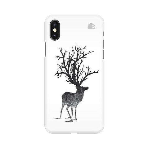 Abstract Deer Apple iPhone X Phone Cover