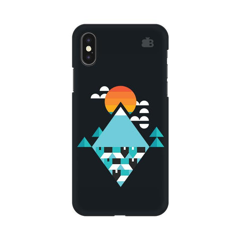 Abstract Mountains Apple iPhone X Phone Cover