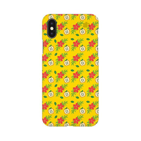 Apples & Flowers Apple iPhone X Phone Cover